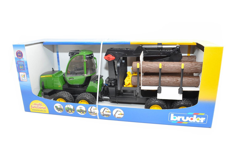 TRACTOR FORESTIER JOHN DEERE 1210E CU GRAIFER BRUDER # 02133