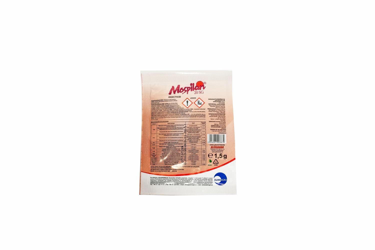INSECTICID MOSPILAN 20 SG 1.5G SUMMIT AGRO