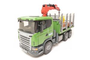 Camion Forestier Scania Cu Macara Bruder # 03524