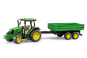 Tractor John Deere 5115m Cu Remorca Bruder # 02108