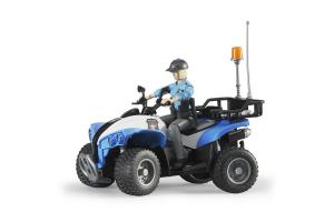Atv De Politie Cu Figurina Femeie Politist Bruder # 63010