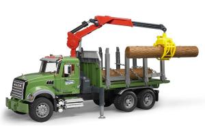 Camion Mack Transport Lemne Bruder # 02824