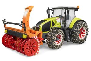 Tractor Claas Axion 950 Cu Lanturi Si Freza Pentru Zapada Bruder # 03017