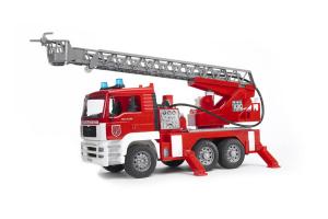 Masina De Pompier Man Cu Scara Si Pompa Apa Bruder # 02771