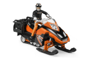 Snowmobil Akia Rettungsschlitten Cu Sofer, Schiuri, Si Sanie De Salvare Cu Schior Bruder # 63100