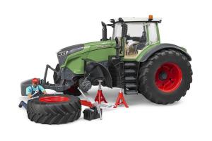 Tractor Fendt 1050 Vario Cu Mecanic Si Echipament Pentru Atelier Bruder # 04041