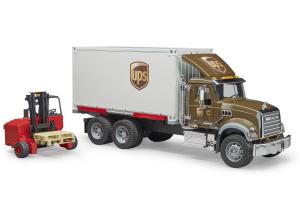 Camion Ups Mack Granite Cu Motostivuitor Bruder # 02828