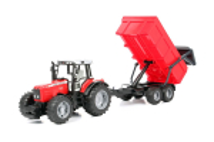 Tractor Massey Ferguson 7480 Cu Remorca Basculabila Bruder # 02045