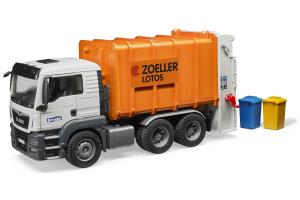 Camion Man Tgs Cu Containere Si Incarcator Pe Spate Bruder # 03762