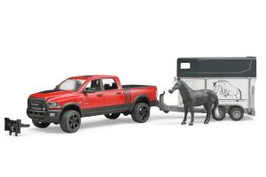 Pickup Ram 2500 Power Wagon Cu Remorca Si 1 Cal Bruder # 02501