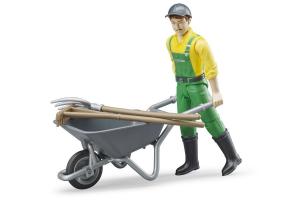Set Figurina Agricultor Cu Accesorii Bruder # 62610
