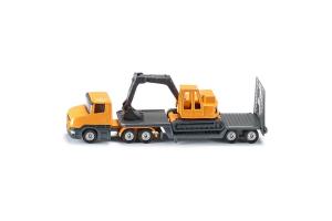 Camion Cu Remorca Si Excavator Siku # 1611