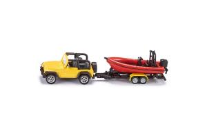 Masina De Teren Jeep Cu Remorca Si Barca Siku # 1658