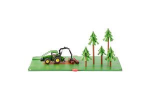 Set Forestier Cu  Tractor Si Copaci Siku # 5605