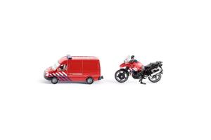 Masina De Pompieri Cu Motocicleta Siku # 1656