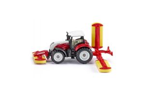 Tractor Steyr Cu Cositoare Pottinger Siku # 1672